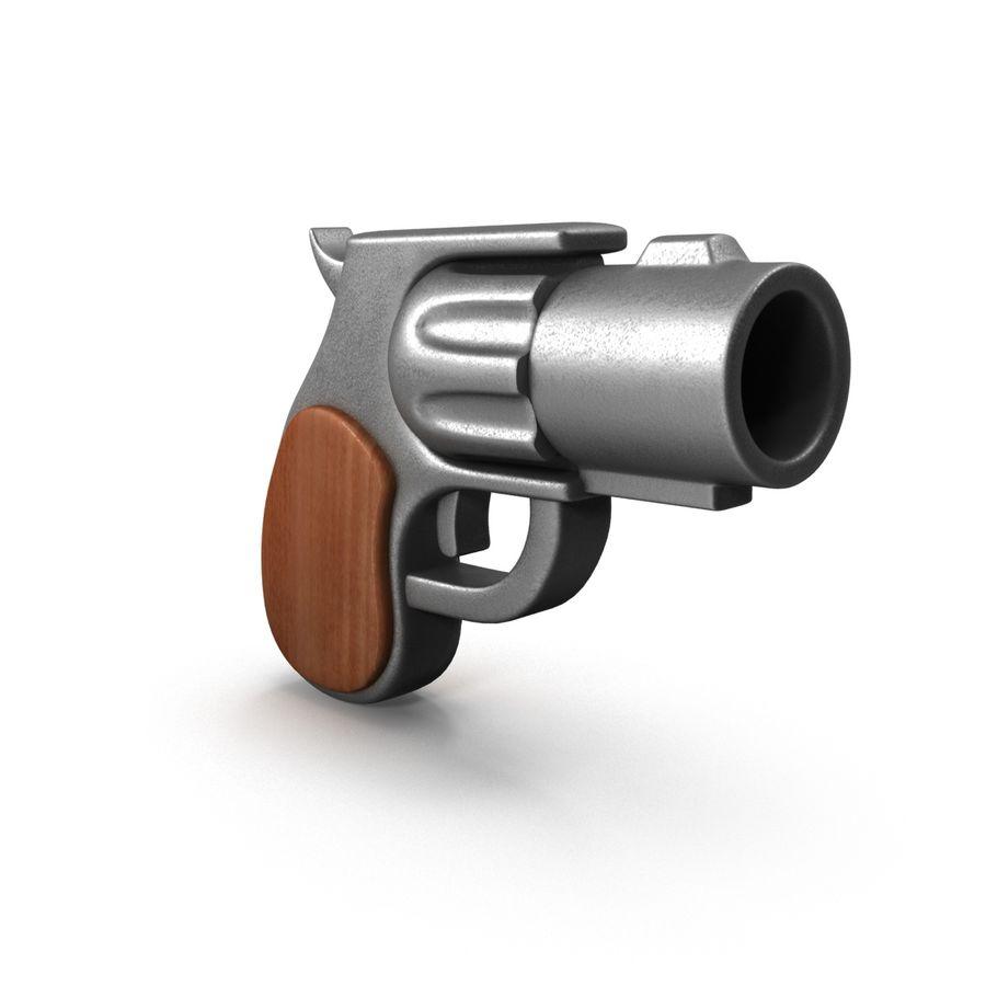 Cartoon Gun Revolver royalty-free 3d model - Preview no. 5