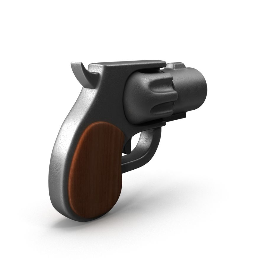 Cartoon Gun Revolver royalty-free 3d model - Preview no. 7