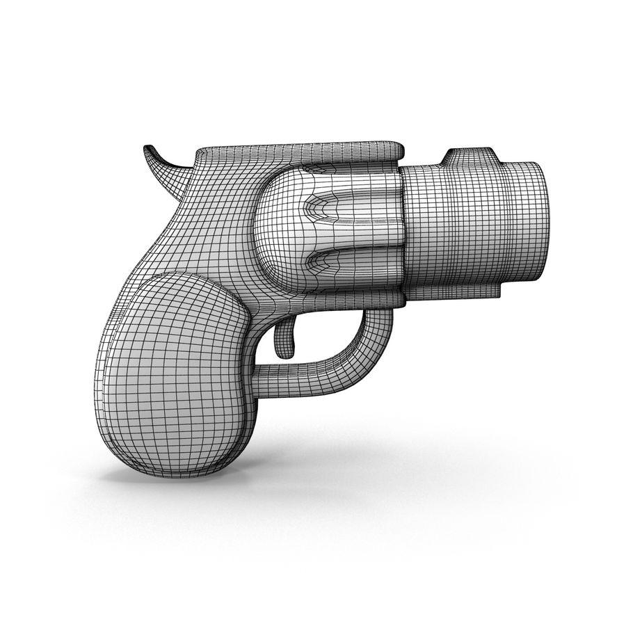 Cartoon Gun Revolver royalty-free 3d model - Preview no. 13