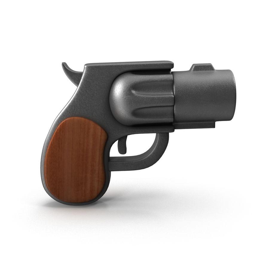 Cartoon Gun Revolver royalty-free 3d model - Preview no. 6
