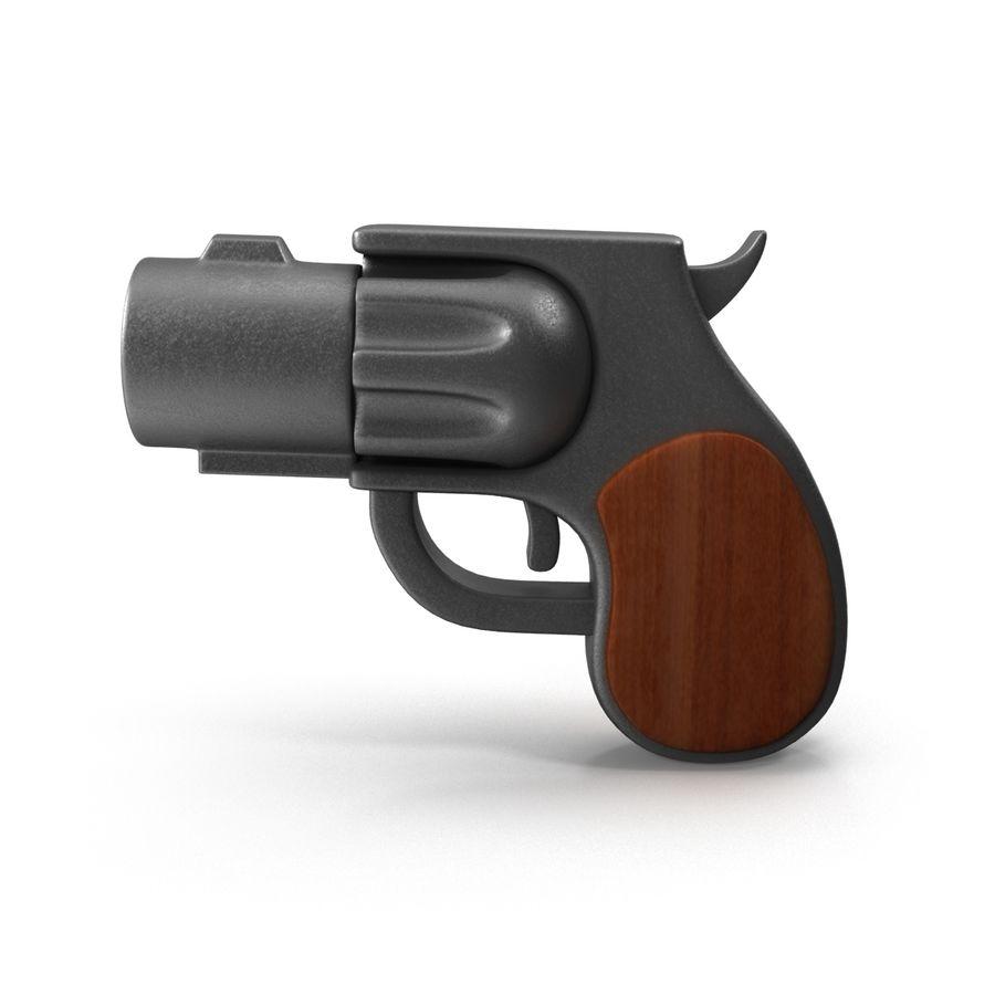 Cartoon Gun Revolver royalty-free 3d model - Preview no. 2