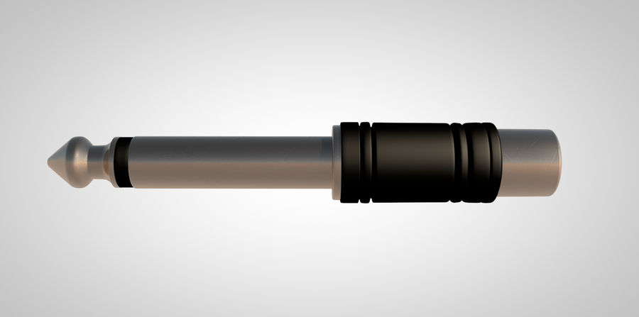 TS mono to RCA royalty-free 3d model - Preview no. 3