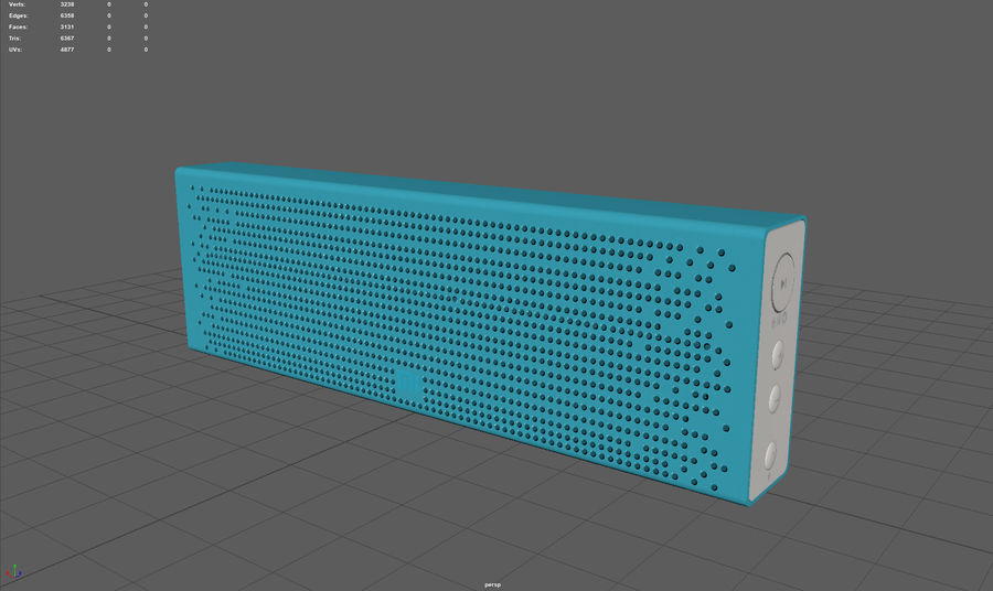 Xiaomi Mi Bluetooth Speaker royalty-free 3d model - Preview no. 3