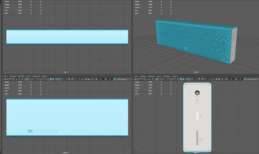 Xiaomi Mi Bluetooth Speaker royalty-free 3d model - Preview no. 6