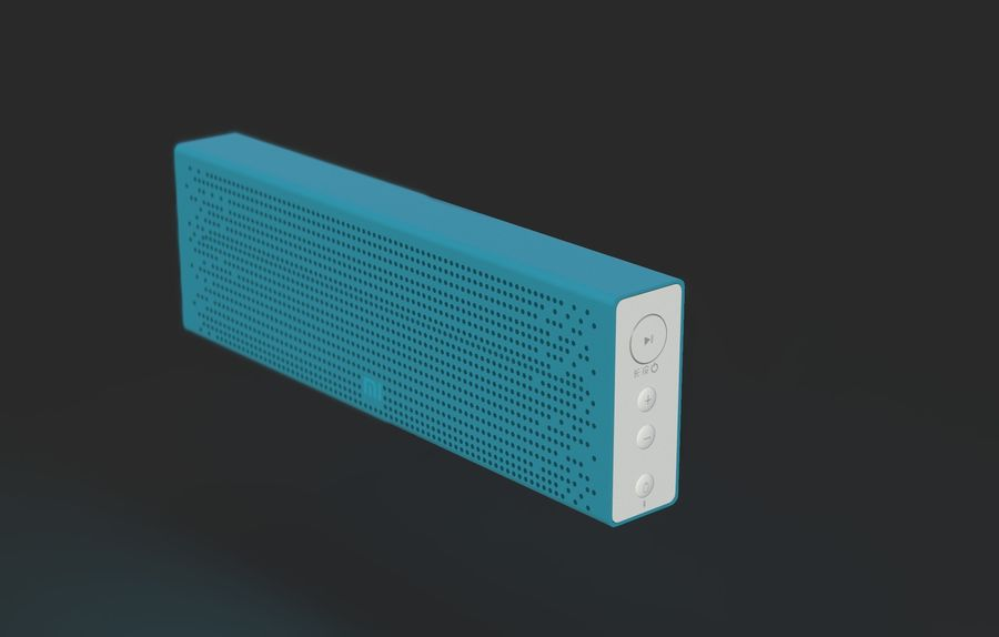 Xiaomi Mi Bluetooth Speaker royalty-free 3d model - Preview no. 1