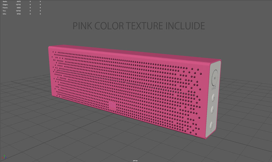 Xiaomi Mi Bluetooth Speaker royalty-free 3d model - Preview no. 9