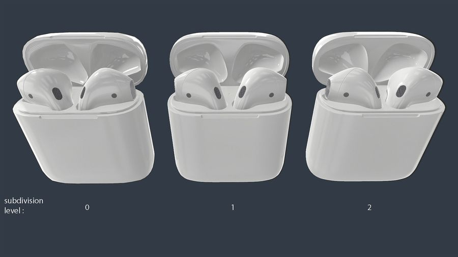 Apple AirPods with Case royalty-free 3d model - Preview no. 21