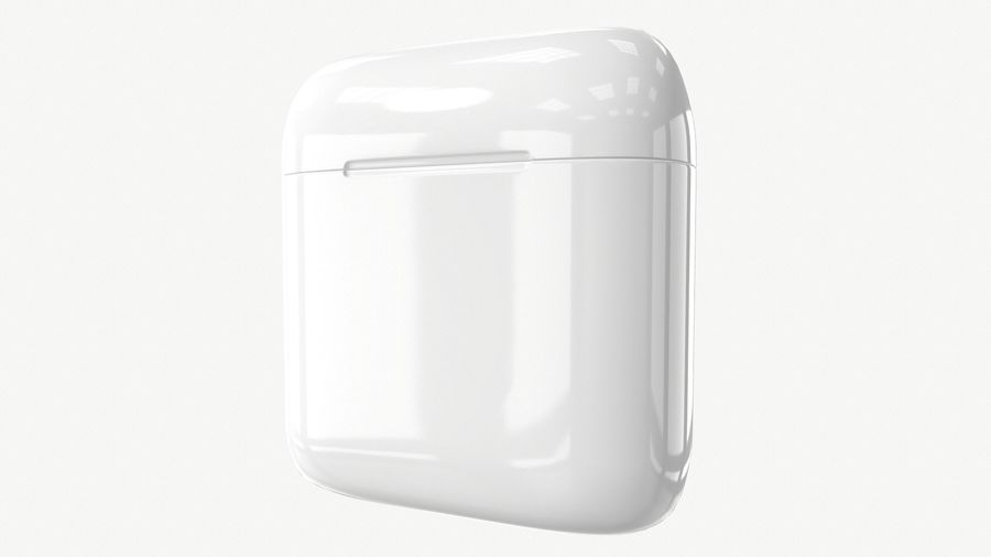 Apple AirPods with Case royalty-free 3d model - Preview no. 9