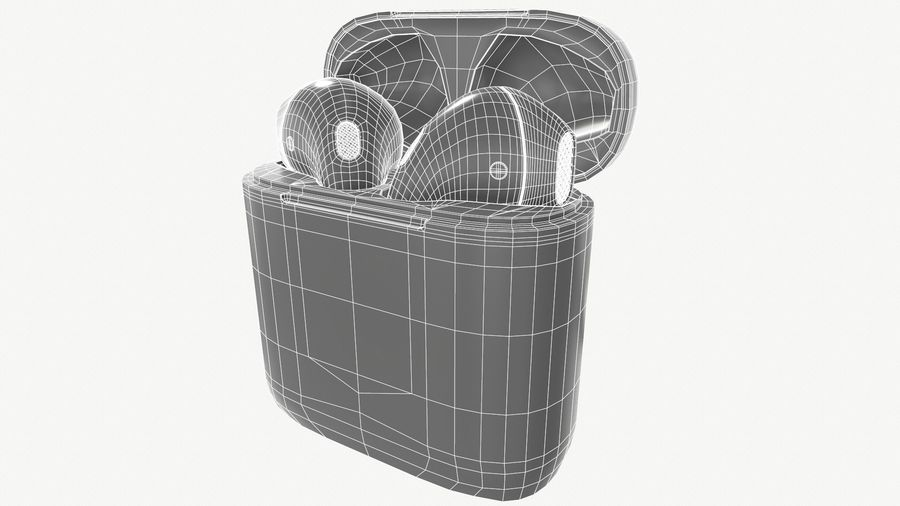Apple AirPods with Case royalty-free 3d model - Preview no. 11
