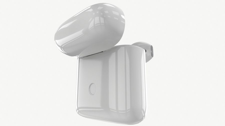 Apple AirPods with Case royalty-free 3d model - Preview no. 6