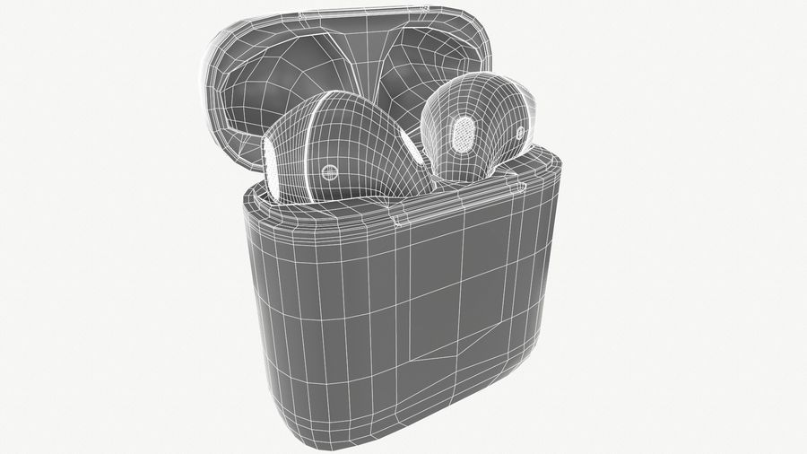 Apple AirPods with Case royalty-free 3d model - Preview no. 10