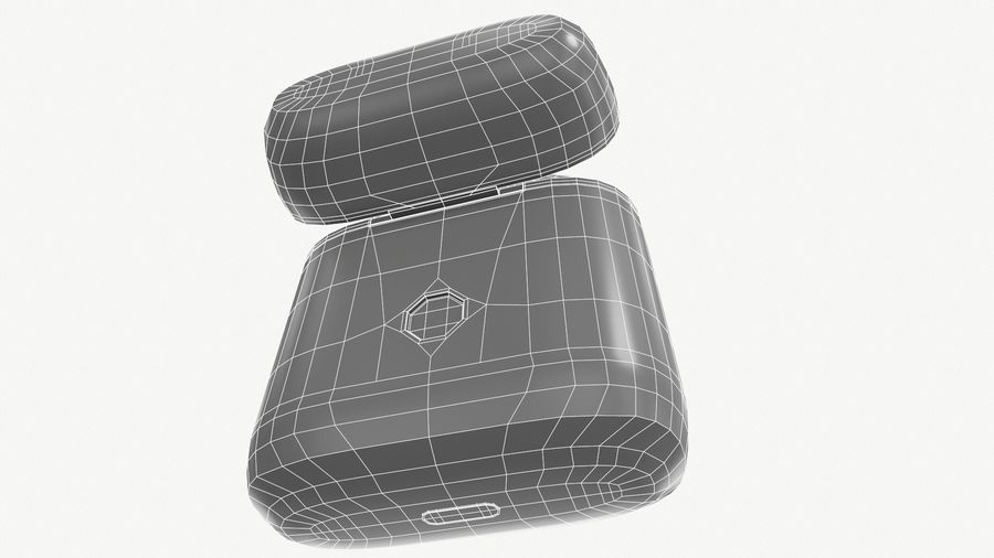 Apple AirPods with Case royalty-free 3d model - Preview no. 13