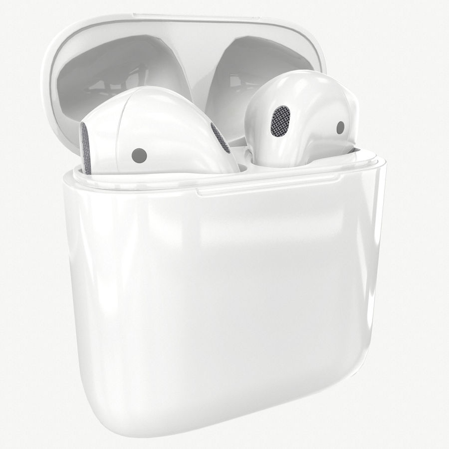 Apple AirPods with Case royalty-free 3d model - Preview no. 1