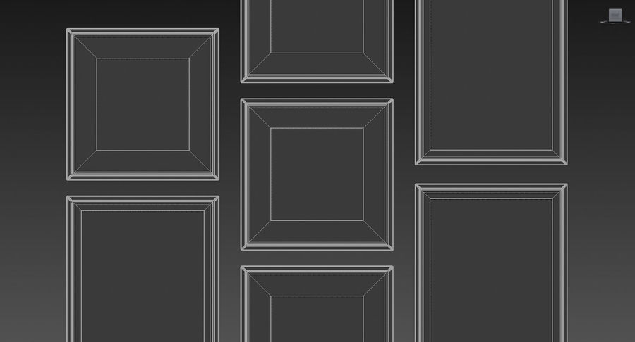 Picture Frames Set -128 royalty-free 3d model - Preview no. 13