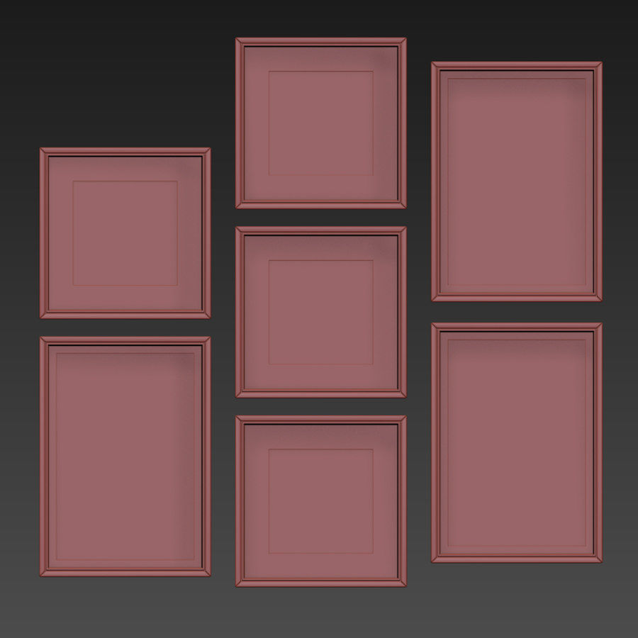 Picture Frames Set -128 royalty-free 3d model - Preview no. 15