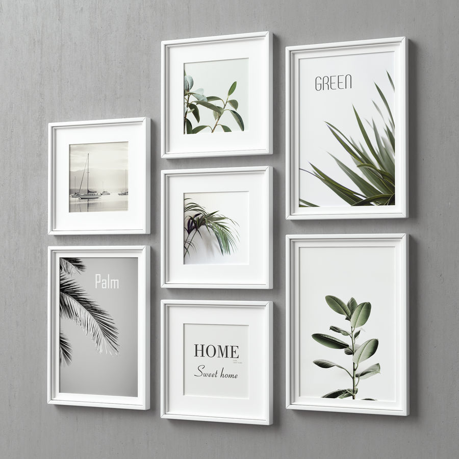 Picture Frames Set -128 royalty-free 3d model - Preview no. 3
