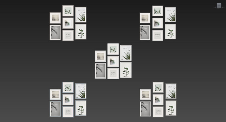 Picture Frames Set -128 royalty-free 3d model - Preview no. 10