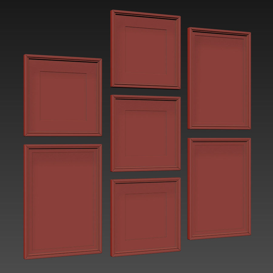 Picture Frames Set -128 royalty-free 3d model - Preview no. 14