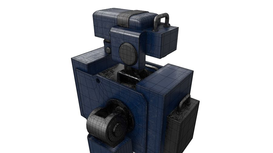 Blue Robot royalty-free 3d model - Preview no. 20
