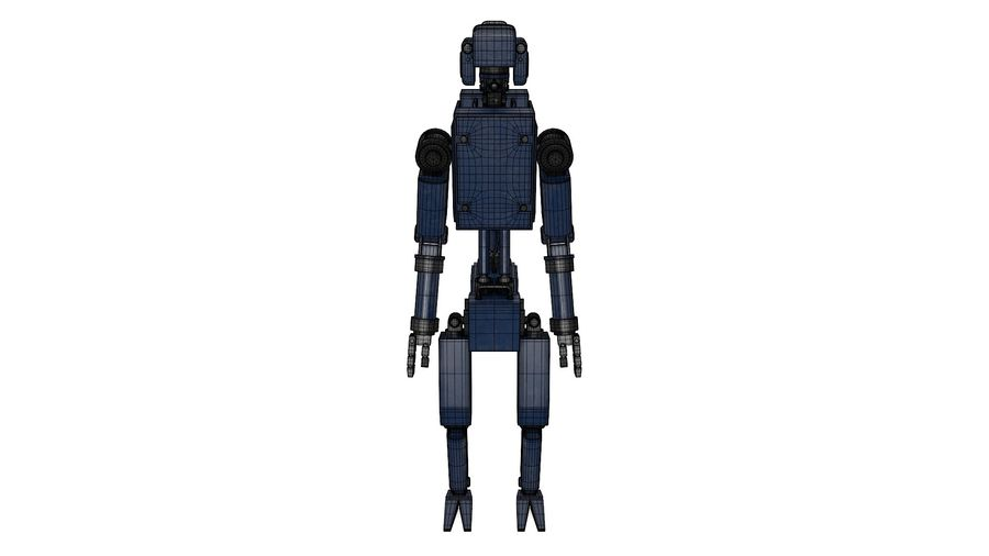 Blue Robot royalty-free 3d model - Preview no. 14
