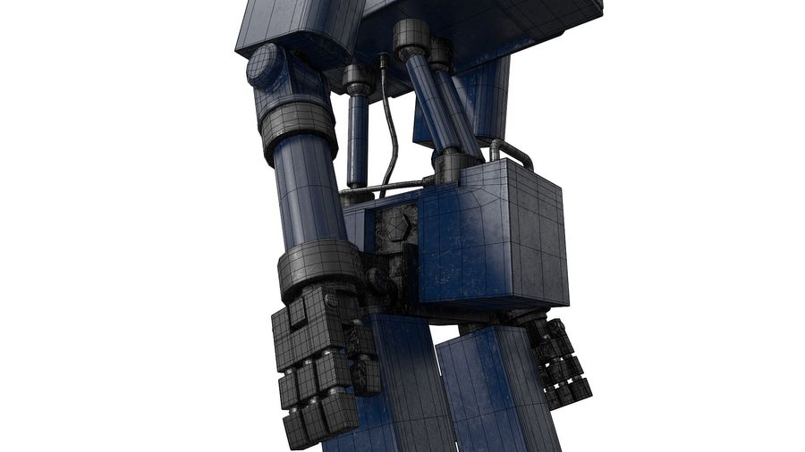 Blue Robot royalty-free 3d model - Preview no. 18