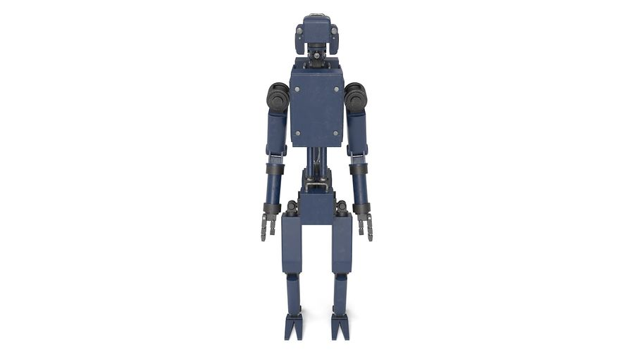 Blue Robot royalty-free 3d model - Preview no. 13