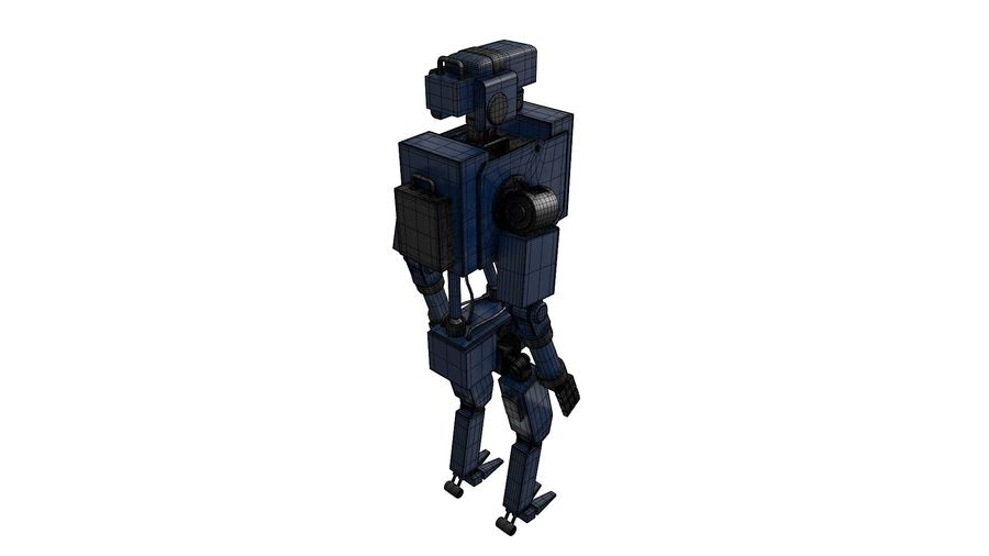 Blue Robot royalty-free 3d model - Preview no. 12