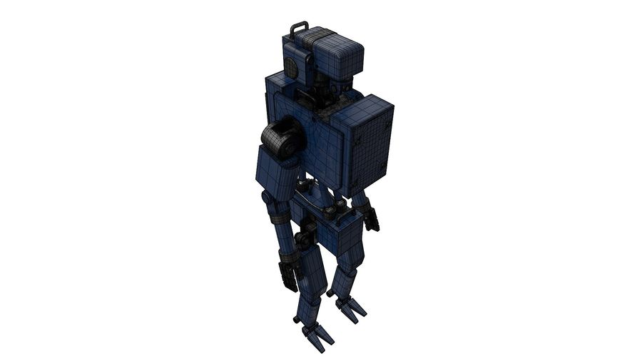 Blue Robot royalty-free 3d model - Preview no. 10
