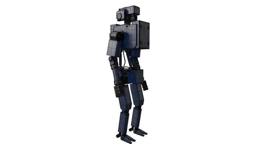 Blue Robot royalty-free 3d model - Preview no. 6