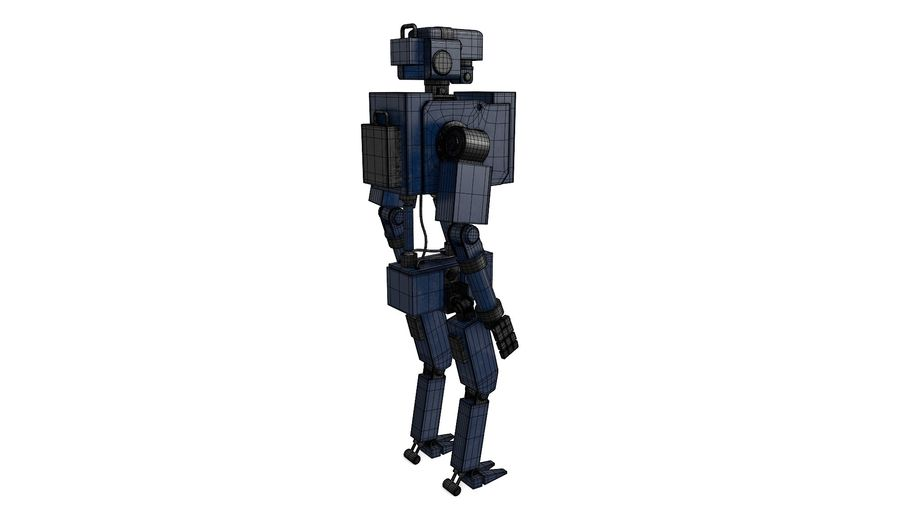 Blue Robot royalty-free 3d model - Preview no. 4