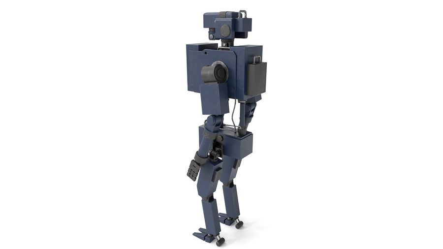 Blue Robot royalty-free 3d model - Preview no. 7