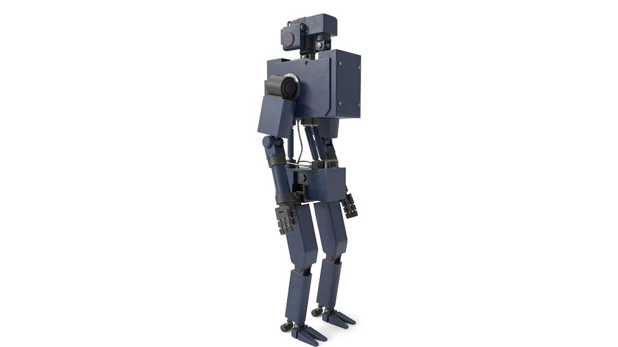 Blue Robot royalty-free 3d model - Preview no. 5