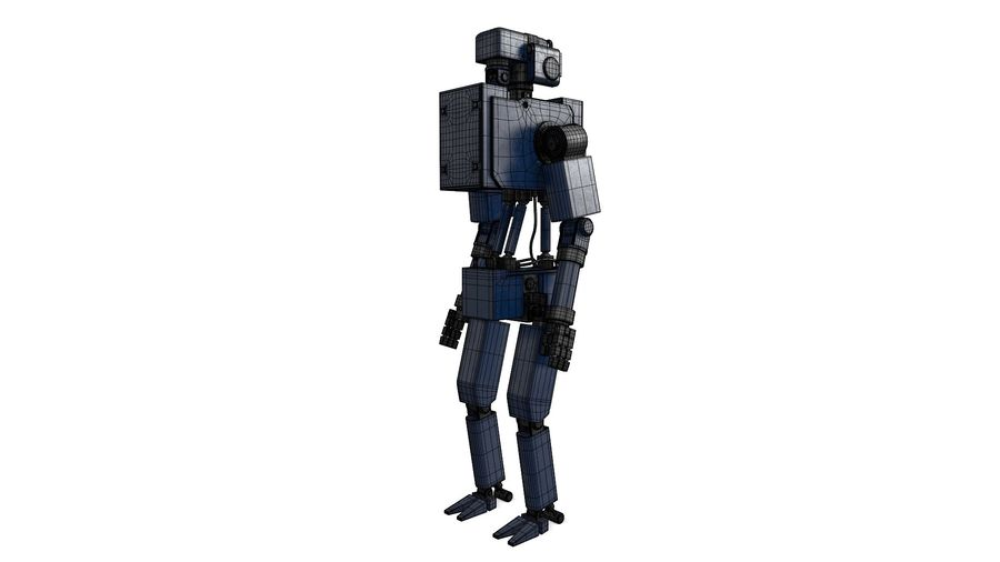 Blue Robot royalty-free 3d model - Preview no. 2