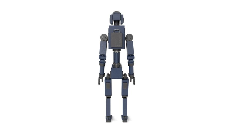Blue Robot royalty-free 3d model - Preview no. 15