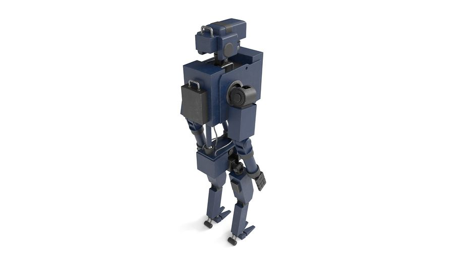 Blue Robot royalty-free 3d model - Preview no. 11