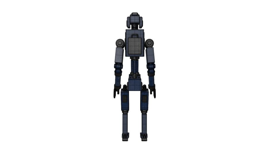 Blue Robot royalty-free 3d model - Preview no. 16