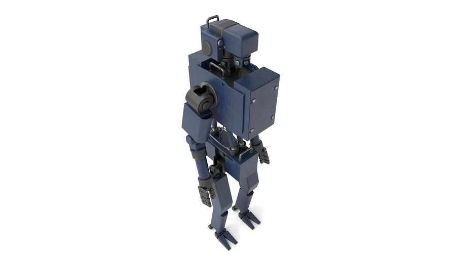 Blue Robot royalty-free 3d model - Preview no. 9