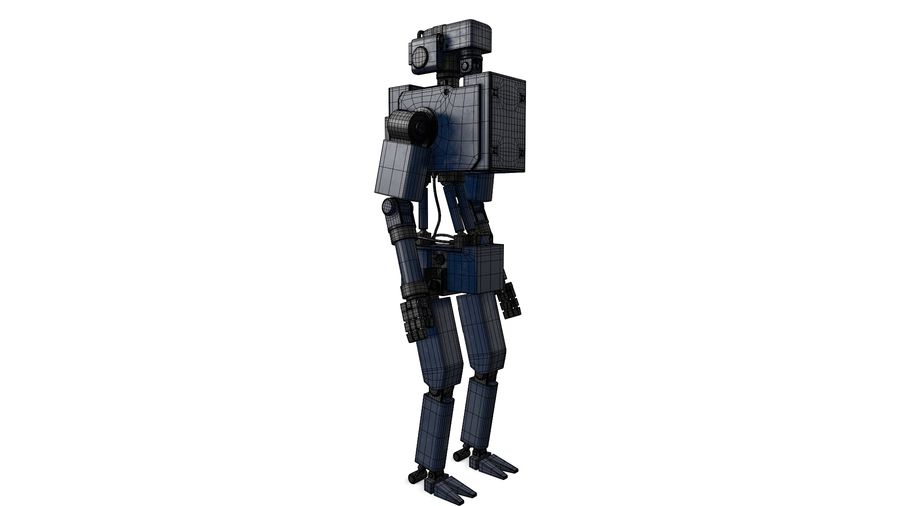 Blue Robot royalty-free 3d model - Preview no. 1
