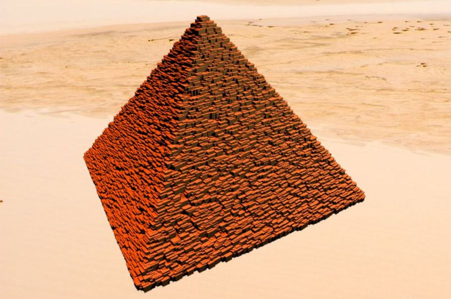 Egypt Pyramid royalty-free 3d model - Preview no. 1
