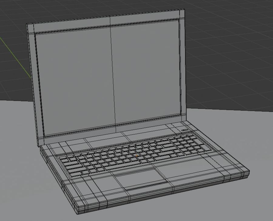 Laptop royalty-free 3d model - Preview no. 7