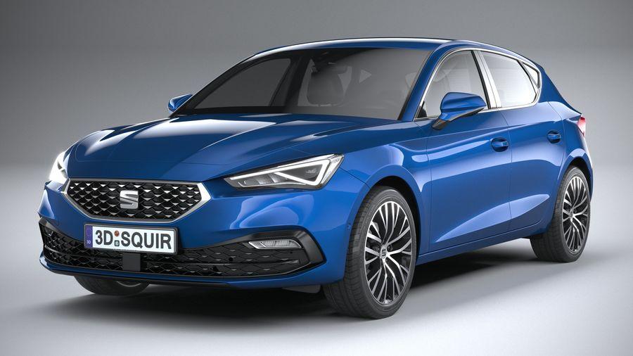 Seat Leon 5-door 2020 royalty-free 3d model - Preview no. 1