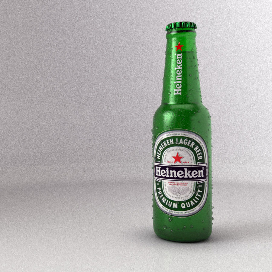 Beer Bottle royalty-free 3d model - Preview no. 4