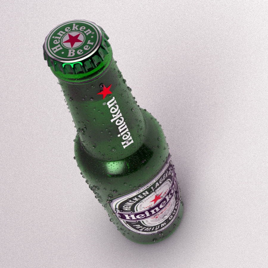 Beer Bottle royalty-free 3d model - Preview no. 3