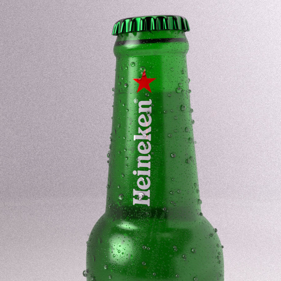 Beer Bottle royalty-free 3d model - Preview no. 5