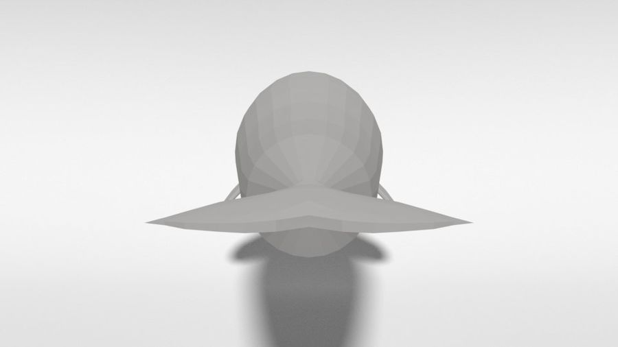 Low Poly Cartoon Beluga Whale royalty-free 3d model - Preview no. 4