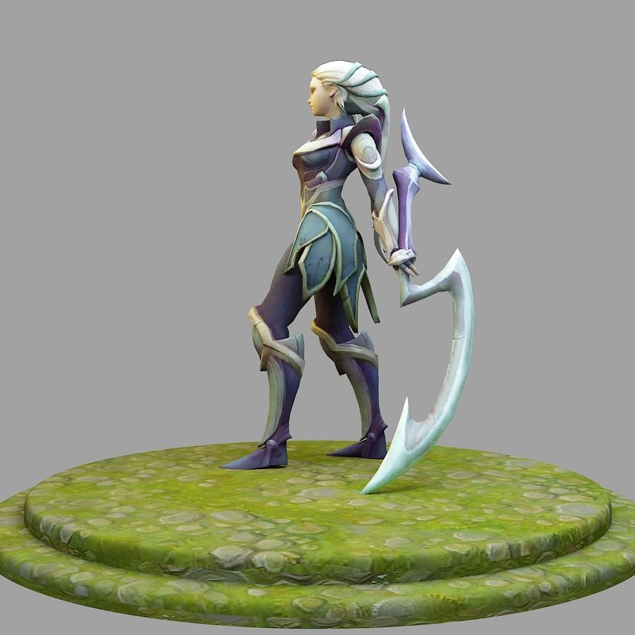 League Of Legends : Diana royalty-free 3d model - Preview no. 1