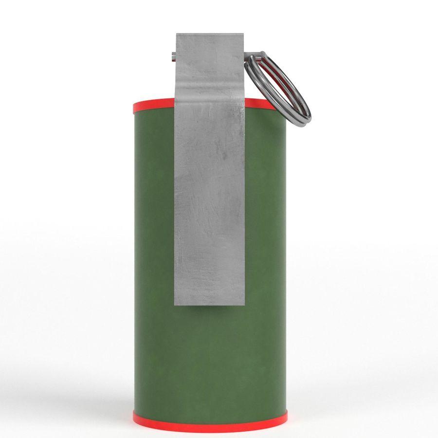 Smoke grenade royalty-free 3d model - Preview no. 3