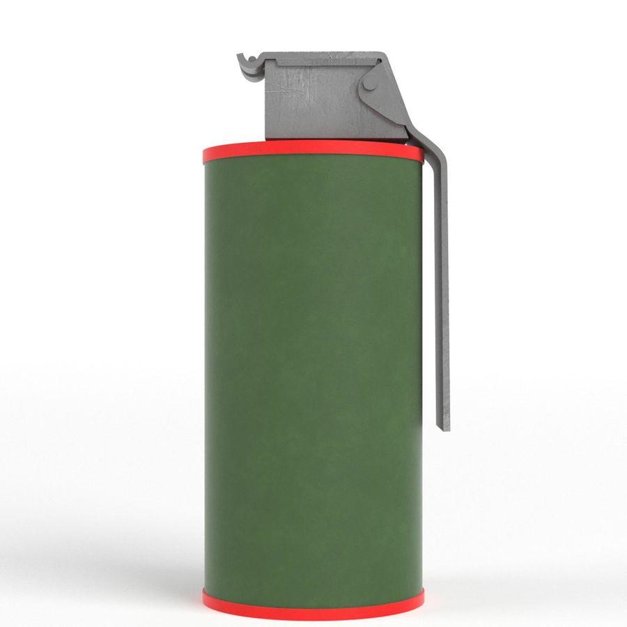 Smoke grenade royalty-free 3d model - Preview no. 4
