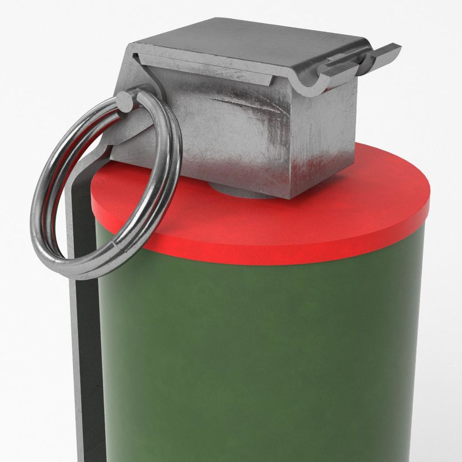 Smoke grenade royalty-free 3d model - Preview no. 5