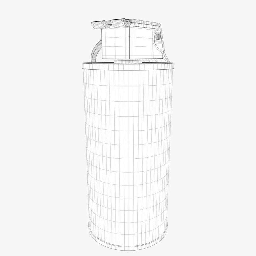 Smoke grenade royalty-free 3d model - Preview no. 7